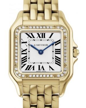 Cartier Panthère de Cartier Women's Watch Medium Quartz Yellow Gold Diamonds Silver Dial Yellow Gold Bracelet WJPN0016 - BRAND NEW