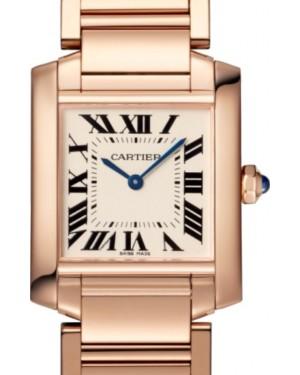Cartier Tank Francaise Quartz Medium Rose Gold Silver Dial Rose Gold Bracelet WGTA0030 - BRAND NEW