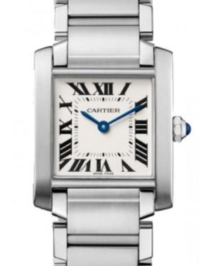 Cartier Tank Francaise Quartz Medium Stainless Steel Silver Dial Steel Bracelet WSTA0005 - BRAND NEW