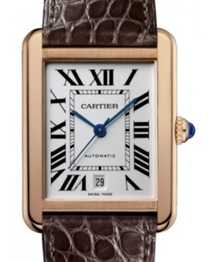 Cartier Tank Solo Men's Watch Extra Large Automatic Rose Gold White Dial Alligator Leather Strap W5200026 - BRAND NEW
