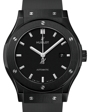 Hublot Classic Fusion Black Magic Ceramic Black 42mm Dial Bezel Rubber Strap 542.CM.1171.RX - BRAND NEW