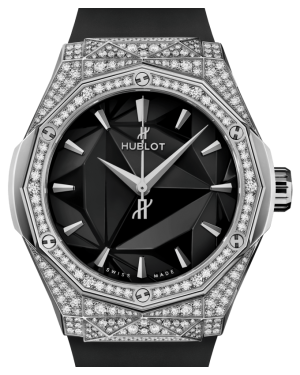 Hublot Classic Fusion Orlinski Titanium Pavé Diamonds 40mm Black Dial Rubber Strap 550.NS.1800.RX.1604.ORL19 - BRAND NEW