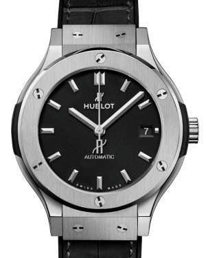 Hublot Classic Fusion Titanium Black 38mm Dial Bezel Leather Strap 565.NX.1171.LR - BRAND NEW
