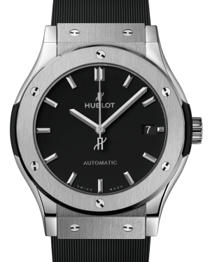 Hublot Classic Fusion Titanium Black 42mm Dial Bezel Rubber Strap 542.NX.1171.RX - BRAND NEW