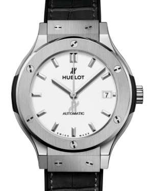 Hublot Classic Fusion Titanium Opalin 38mm Dial Rubber & Leather Strap 565.NX.2611.LR - BRAND NEW