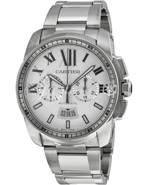 CARTIER W7100045 CALIBRE DE CARTIER CHRONOGRAPH 42mm Stainless Steel BRAND NEW