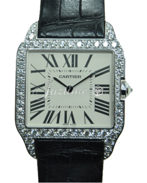 CARTIER WH100651 SANTOS DUMONT WHITE GOLD AND DIAMONDS BRAND NEW