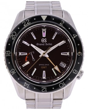 Grand Seiko GMT Spring Drive Limited of 600 Stainless Steel Red 44mm Dial Bracelet SBGE245 - PRE OWNED