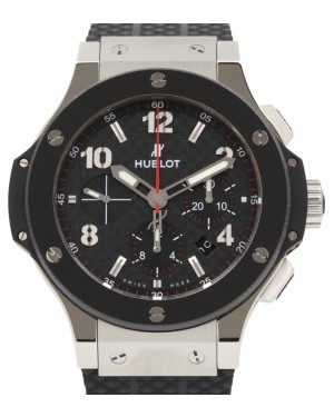 Hublot Big Bang 301.SB.131.RX Carbon Fiber Arabic Black Ceramic Bezel & Stainless Steel Case Rubber 44mm BRAND NEW