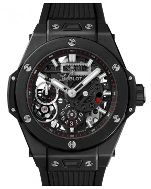 Hublot Big Bang Meca-10 Black Magic Skeleton Index 45mm Dial Ceramic Case Rubber 414.CI.1123.RX - BRAND NEW