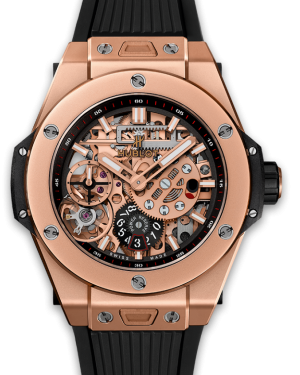 Hublot Big Bang Meca-10 King Gold Skeleton Dial Rose Gold Bezel Rubber Strap 45mm 414.OI.1123.RX - BRAND NEW