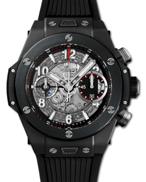 Hublot Big Bang Unico Black Magic Black Skeleton 42mm Dial Ceramic Bezel Rubber Strap 441.CI.1170.RX - BRAND NEW