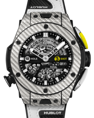 Hublot Big Bang Unico Golf Carbon Fiber & Gray Texalium Matte Black 45mm Dial Rubber Strap 416.YS.1120.VR - BRAND NEW
