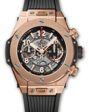Hublot Big Bang Unico King Chronograph Skeleton Dial  Rose Gold Bezel 45mm 411.OX.1180.RX - BRAND NEW
