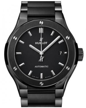 Hublot Classic Fusion 3-Hands Black Magic Bracelet Ceramic 45mm Black Dial Ceramic Bracelet 510.CM.1170.CM - BRAND NEW