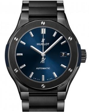 Hublot Classic Fusion 3-Hands Ceramic Blue Bracelet 45mm Blue Dial Ceramic Bracelet 510.CM.7170.CM - BRAND NEW