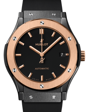 Hublot Classic Fusion Ceramic King Gold Black 45mm Dial Bezel Rubber Strap 511.CO.1181.RX - BRAND NEW