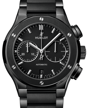Hublot Classic Fusion Chronograph Black Magic Ceramic Black 45mm Dial Bezel & Bracelet Strap 520.CM.1170.CM - BRAND NEW