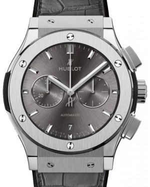 Hublot Classic Fusion Chronograph Titanium 42mm Grey Dial Rubber and Alligator Leather Straps 541.NX.7070.LR - BRAND NEW