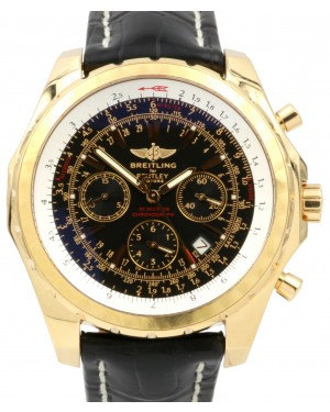 Breitling Bentley Motors T H25363 Men's 48mm Rose Gold Leather Chronograph BOX/PAPERS