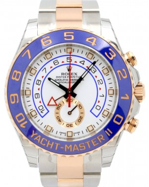 Rolex Yacht-Master II Rose Gold/Steel White Dial Ceramic Bezel 116681 - BRAND NEW