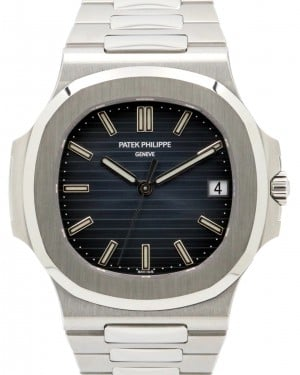 Patek Philippe 5711/1A-010 Nautilus 40mm Black-Blue Index Date Stainless Steel Automatic