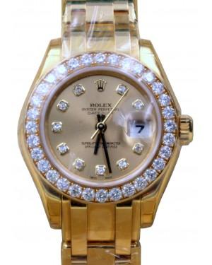 Rolex Datejust Masterpiece 80298 Ladies 29mm Champagne Factory Diamond Bezel Dial 18k Yellow Gold - BRAND NEW
