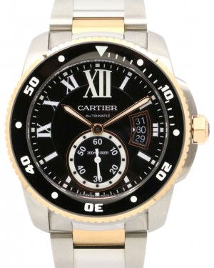 Cartier Calibre Diver W7100054 42mm 18k Rose Gold Stainless Steel
