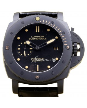 Panerai PAM 508 Luminor Submersible 1950 3 Days ​Ceramic Men's 47mm Leather
