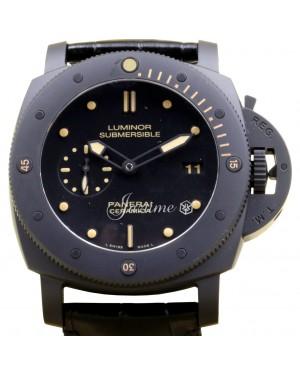 Panerai PAM 508 Luminor Submersible 1950 3 Days Ceramic Men's 47mm Leather