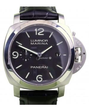 Panerai PAM 312 Luminor Marina Black 1950's Case 44mm Stainless Steel Leather BOX/PAPERS
