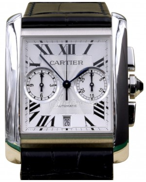 Cartier Tank MC W5330007 Men's Silver Roman Stainless Steel BRAND NEW