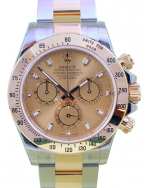 Rolex Daytona 116523 Yellow Gold Champagne Stainless Steel BRAND NEW