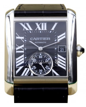 Cartier Tank MC W5330004 Men's Black Roman Stainless Steel - BRAND NEW