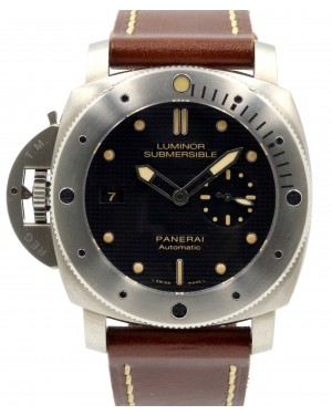 Panerai PAM 569 Luminor Submersible 1950 Left Handed 47mm Titanium BOX PAPERS