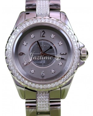 Chanel J12 H3105 Chromatic Ladies 33mm Titanium Gray Ceramic Diamond - BRAND NEW