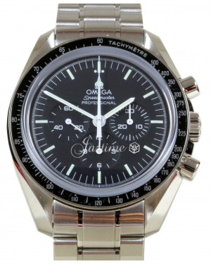 Omega 311.30.42.30.01.005 Speedmaster Moonwatch Professional 42mm Black Index Stainless Steel BRAND NEW