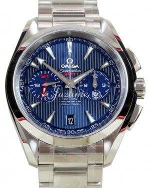 OMEGA Seamaster Aqua Terra GMT Chronograph 150 M 43mm Co-Axial 231.10.43.52.03.001 BRAND NEW