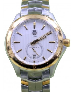 TAG Heuer Link WAT2150.BB0953 40mm Silver Index Yellow Gold Stainless Steel Date BRAND NEW