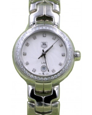 TAG Heuer Link Ladies WAT1414.BA0954 29mm Silver Guilloche Diamond Stainless Steel BRAND NEW