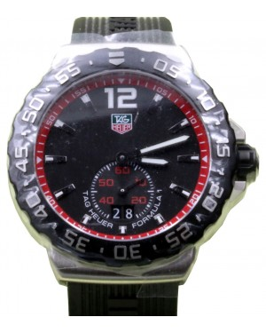 TAG Heuer Formula 1 WAU1114.FT6024 42mm Black Index Stainless Steel Rubber Date BRAND NEW