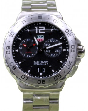 TAG Heuer Formula 1 WAU111A.BA0858 42mm Black Index Stainless Steel Date BRAND NEW