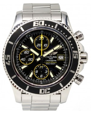 Breitling Superocean A13341 Chronograph 44mm Black Index Stainless Steel