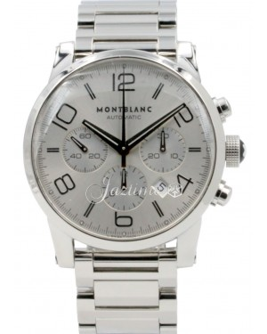 MontBlanc Timewalker 7069 Silver Arabic Stainless Steel Date 43mm Chronograph