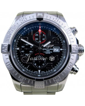 Breitling Super Avenger 2 A13371 XL 48mm Black Arabic Stainless Steel BRAND NEW