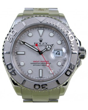 Rolex Yacht-Master 16622 Men's 40mm Platinum Bezel Stainless Steel Oyster