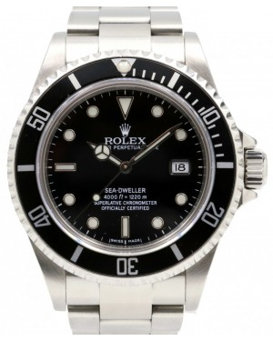 Rolex Sea-Dweller Stainless Steel Black Dial Oyster Bracelet 40mm Diver Date 16600 PRE-OWNED