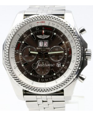 Breitling Bentley 6.75 A44362 Speed Havana Brown Stainless Steel Chronograph