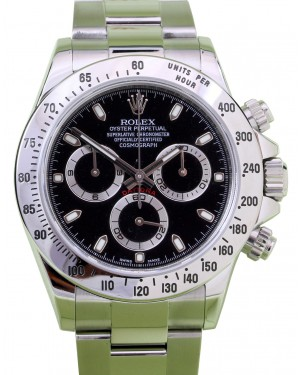 Rolex Daytona 116520 Black Stainless Steel Chronograph