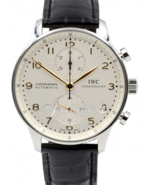 IWC Portuguese Automatic Chronograph IW371445 Men's Silver Arabic Stainless Steel BRAND NEW